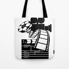 MOVIE BLACK AND WHITE Tote Bag