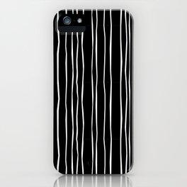 Wide Black Stripe iPhone Case