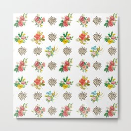 Pretty Floral Boutiques of Flowers Metal Print