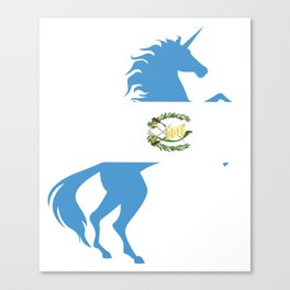 Unicorn Guatemala Flag Magical Unicorn Guatemalan Canvas Print