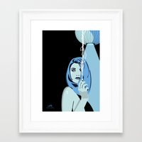 cigarettes Framed Art Prints featuring Genevieve & Cigarettes  by Andrew Formosa