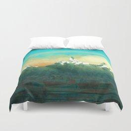 Mountains abowe the blue sky Duvet Cover