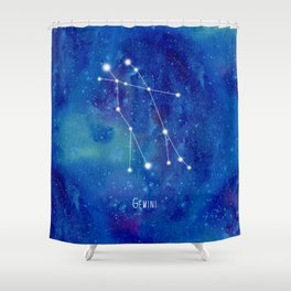 Constellation Gemini Shower Curtain