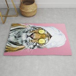 Tiger in a Towel Rug