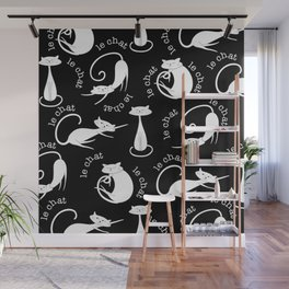 Le Chat - Black Wall Mural