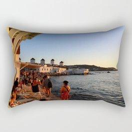 Windmills of Mykonos Rectangular Pillow
