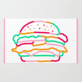 Neon Burger Rug