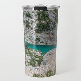 Blue river in France Travel Mug