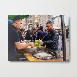 iraqi People making food Metal Print