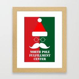 North Pole Fulfillment Center Framed Art Print
