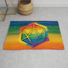 LGBT D20 Icosahedron of a Dream Rug