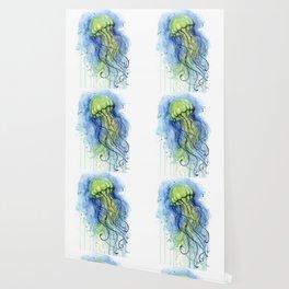 Jellyfish Watercolor Beautiful Sea Creatures Wallpaper