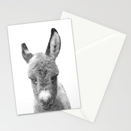 Black and White Baby Donkey Stationery Cards