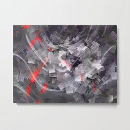 Sweep Grey Metal Print