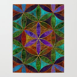 The Flower of Life (Sacred Geometry) 2 Poster
