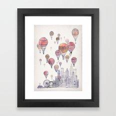 Voyages Over Santa Monica Framed Art Print