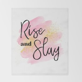 Rise and Slay Throw Blanket