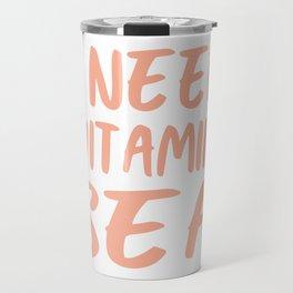 I Need Vitamin Sea - Coral Pink Travel Mug