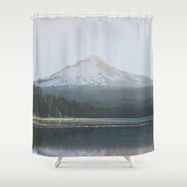 Trillium Lake Sunrise - Nature Photography Shower Curtain