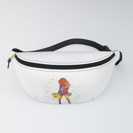 young woman Cheerleader Art Girl Poms Dance in watercolor 07 Fanny Pack