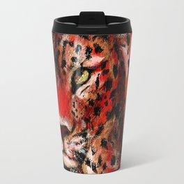 Red Leopard Travel Mug