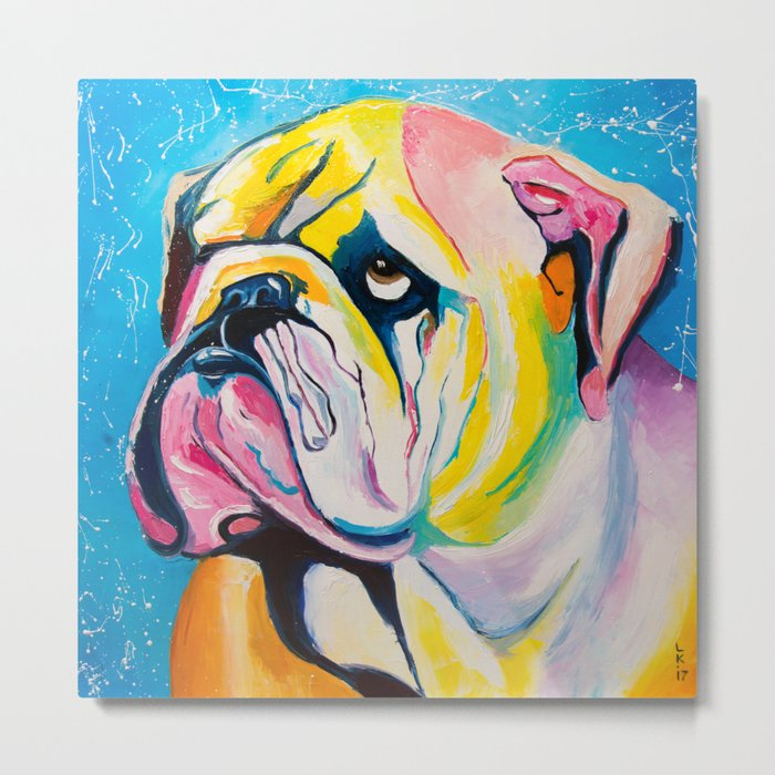 Hey, Bulldog! Metal Print