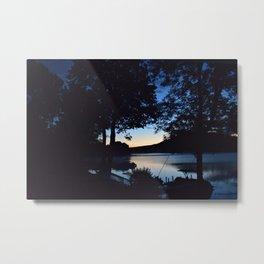 Silhouettes: Dawn on Lake George Metal Print