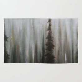 Pacific Northwest Forest oil painting by Jess Purser Rug