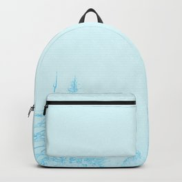 Icy forest in ice blue Backpack