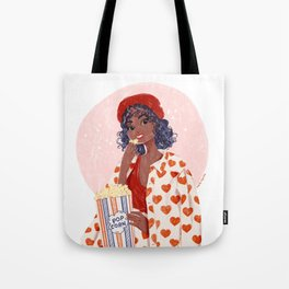 Pop-corn and heart jacket Tote Bag