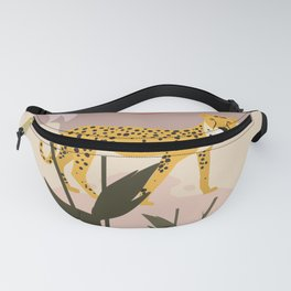 Spotted - Panther Jungle Retro Minimalist Graphic Fanny Pack