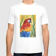 PARROT MEDIUM Mens Fitted Tee White