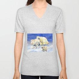 White bears Unisex V-Neck