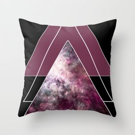 Intergalactic Triangles Throw Pillow
