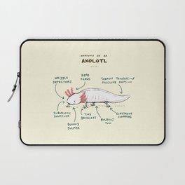 Anatomy of an Axolotl Laptop Sleeve