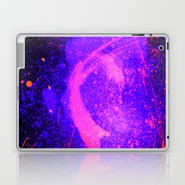 Vivid Violet Purple Abstract Splatter Painting Laptop & iPad Skin
