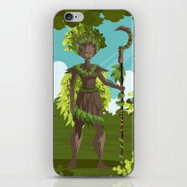 dryad nature tree forest guardian iPhone Skin