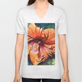 Tropical Hibiscus 9 Unisex V-Neck