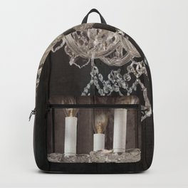 rustic barn wood western country chandelier Backpack