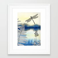 dragonfly Framed Art Prints featuring Dragonfly by Alibabaform