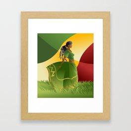 african rastafarian girl Framed Art Print