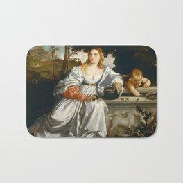 "Titian (Tiziano Vecelli) ""Sacred and Profane Love"" (1), 1515-1516 Bath Mat"