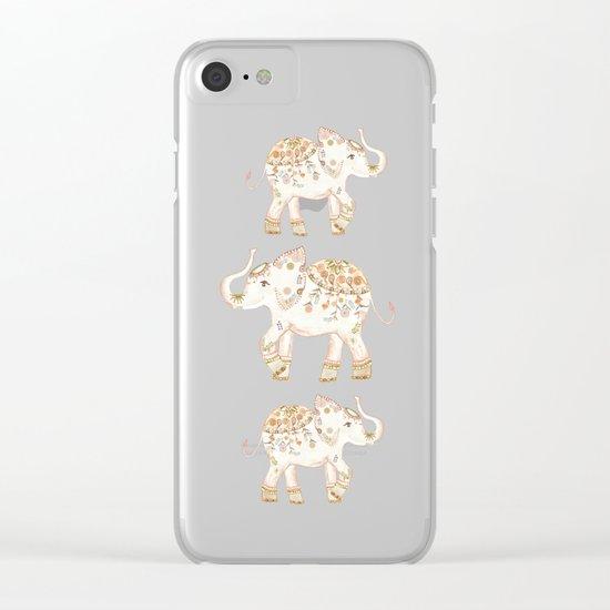 ALHAMBRA ELEPHANT GREY by Monika Strigel Clear iPhone Case