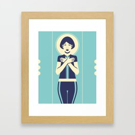 Evangeline Blue Framed Art Print