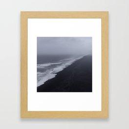 Vanishing point - Dyrholaey, Iceland Framed Art Print