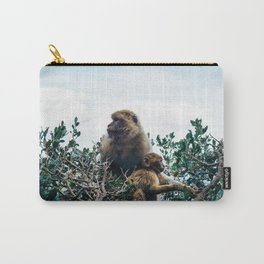 Macaque Mother and Daughter Carry-All Pouch