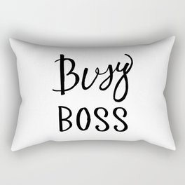Busy boss Black and white hand lettering Rectangular Pillow