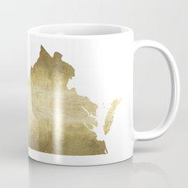 Virginia gold foil state map Coffee Mug