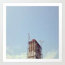 #322 A time to tear down and a time to build up Art Print