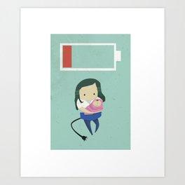 tiredasamother Art Print